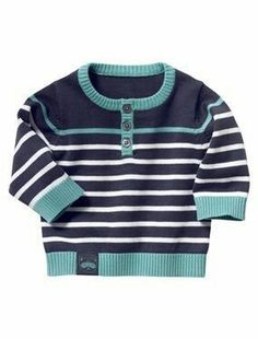 Pull bébé rayé – Baby Sweaters – # – knitting sweaters for kids Baby Boy Knitting Patterns, Knitting For Kids, Knitting Designs, Cardigan Bebe, Baby Cardigan, Knit Baby Sweaters, Girls Sweaters, Pull Bebe, Baby Pullover