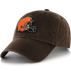 1769f331068  47 Brand Cleveland Browns Historic Logo Women s Cleanup Adjustable Hat -  Brown