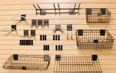 Slat Wall Hooks and Baskets