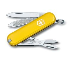 It all started with the Swiss Officer's Knife – and more than a century later, the Swiss Army Knife is still an icon of sleek functionality. Each one is built to last a lifetime and in the Classic you'll find all the functionality you need for your everyday adventures – in a package you'll want to keep with you always. It's the easiest lifetime commitment you'll ever make.          Tools   blade, small  scissors  nail file  screwdriver 2.5 mm  key ring