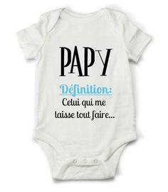 Body grenouillère définition de papy...   Mode Bébé par creatike fd050d77999
