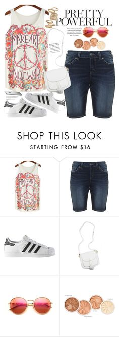 """Untitled #1619"" by anarita11 ❤ liked on Polyvore featuring Silver Jeans Co., adidas, Wildfox and Topshop"