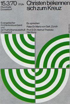 1970's Advertising - Poster - Dusseldorf Religious Meeting 2of2 (Germany)