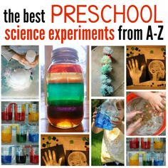 best preschool science experiments from A-Z!! AMAZING EXPERIMENTS!!