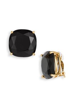 kate spade new york large faceted clip earrings available at #Nordstrom