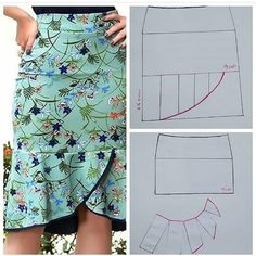 Skirt Patterns Sewing, Clothing Patterns, Clothing Ideas, Sewing Clothes, Diy Clothes, Costura Fashion, Latest African Fashion Dresses, Fashion Sewing, Pattern Fashion