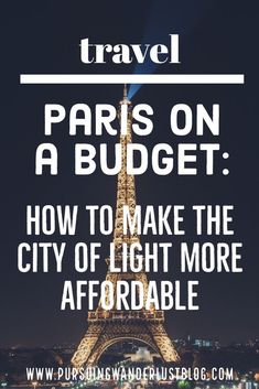 Do you think #Paris is too expensive to visit? Well, it might be one very expensive city, but I�ve got a few tips and tricks for you that will make it much more affordable. #travel #france #visitparis