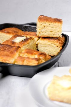 Cast Iron Buttermilk Biscuits - Girl With The Iron Cast Buttermilk Recipes, Homemade Biscuits, Biscuit Recipe, Bread Head, Southern Biscuits, How To Make Biscuits, Biscuit Bread, Stick Of Butter