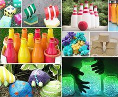 idées d'activités manuelles et jeux d'enfants en plein air pour petits et grands