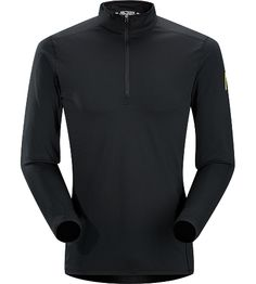 Phase AR Zip Neck LS Men's Lightly insulated, zip-neck base layer, designed for use during aerobic activities in cooler conditions.