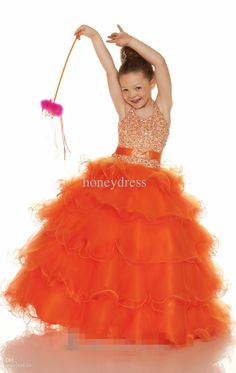 Wholesale Hot sale Fashion Halter length Beaded Organza girl formal dresses flower girl A-26, Free shipping, $75.21-87.32/Piece | DHgate