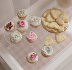 RESERVED  Miniature Cupcakes and Sugar by CynthiasCottageShop
