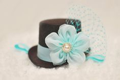 Mini Top Hat Brown Aqua LSS