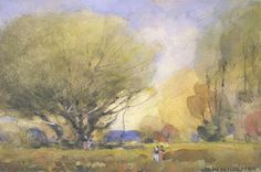 (Summer Scene), ca. 1920, William Henry Holmes, watercolor, 4 3/4 x 7 1/2 in. (12.1 x 29.0 cm.), Smithsonian American Art Museum, Museum purchase