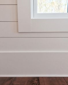 the super simple window trim, shiplap…everywhere! the only drywall is in close… the super simple window trim, shiplap…everywhere! the only drywall is in closets …. Interior Window Trim, Farmhouse Trim, Home, Interior, House, House Trim, Door Trims, Doors Interior, Shiplap