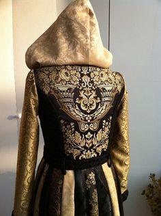 Uptown Gypsy Coat Renaissance The Abigail Coat Black by SewSamSew.
