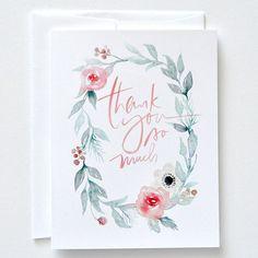 Papelaria de casamento | Cartão de agradecimento