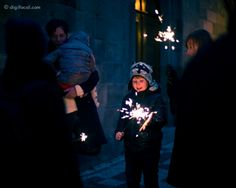 Christmas sparklers  Prague, Czech Republic