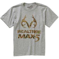 Realtree Boys Graphic Tee, Size: Medium, Gray