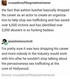 Ashton Kutcher is out here helping people!