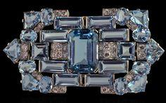 Art Decon aquamarine brooch by Cartier