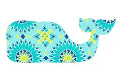 Pattern whale- I want to put this on a canvas! Illustrations, Illustration Art, Vineyard Vines Whale, Preppy Stickers, Preppy Girl, Design Graphique, Southern Charm, Crochet Patterns Amigurumi, Artsy Fartsy