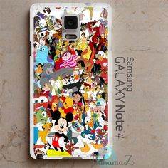 Samsung Galaxy Note 4 Case Disney Cartoon Characters