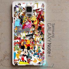 Samsung Galaxy Note 4 Case Disney Cartoon Characters