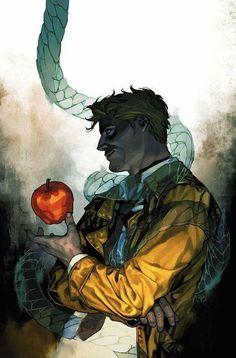 John Constantine apple and serpent artist unknown