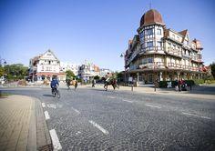 """Grand Hotel Belle Vue (""""Nice View"""") in De Haan, Belgian coast"""