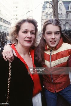 Portrait of teenaged American actress and model Brooke Shields and her mother (and manager) Teri Shields (1933 - 2012), New York, New York, 1978.