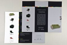 Fully editable Modern Furniture Brochure Template complete with photos and graphics. Brochure Design, Brochure Template, Furniture Brochure, Booklet, Modern Furniture, Templates, Marketing Ideas, Cards, Brochures