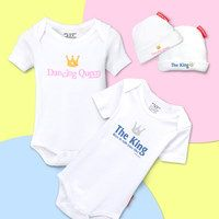 """Inspired by her nephew and other silly kids in her family, Shelley Foster founded Silly Souls with a whimsical goal: to incite laughter; highlight the sunny, funny side of parenthood; and celebrate the silliness of every baby. They remind us of a Charlie Chaplin quote: """"A day without laughter is a day wasted."""" So pick out your favorite Silly Souls design and get giggling."""