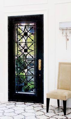 Black Front door- beautiful