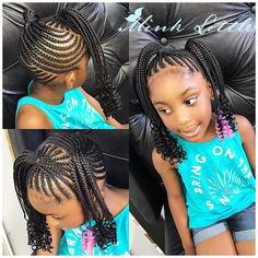braided hairstyles with beads Kid Braids, Toddler Braids, Little Girl Braids, Ghana Braids, Black Girl Braids, Braids For Kids, Kids Braids With Beads, Girls Braids, Funky Braids
