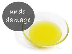 natural homemade beauty treatments to undo damage