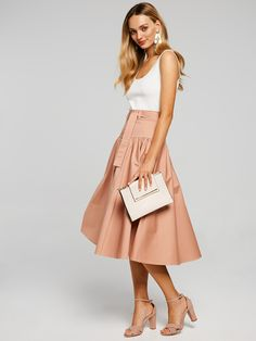 For up-to-the-minute looks that are fast, fresh and ever evolving. Summertime, Midi Skirt, Fashion Dresses, Clothes For Women, Spring, Skirts, Tops, Fashion Show Dresses, Outerwear Women