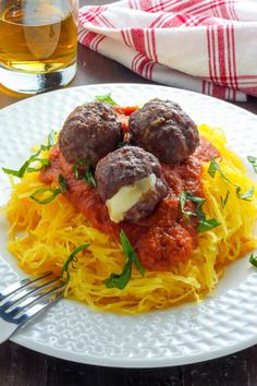 Easy Baked Meatballs, Baked Meatball Recipe, Meatball Recipes, Meatballs 4, Easy Marinara Sauce, Homemade Marinara, Vegetarian Recipes Dinner, Healthy Dinner Recipes, Yummy Recipes