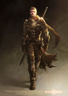 cg fantasy art men   Young-june Choi - male warrior