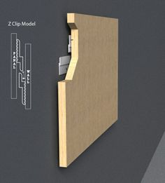Z Rails and Clips are a fast, easy and cost effective method to lock in place any kind of wall panel, acoustic panel, partition, cabinet, signage, artwork, etc.