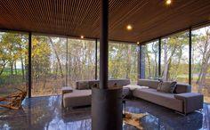Glass + steel House in The Netherlands by Keller Minimal Windows
