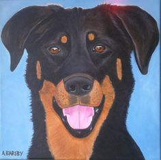 Beauceron: Ebéne artist Amanda Barsby dog art https://www.facebook.com/pages/Art-by-A-Barsby/268280196610002