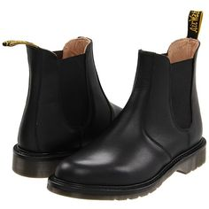 Dr. Martens Laura Chelsea Boot ($99) ❤ liked on Polyvore featuring shoes, boots, ankle booties, black, chaussures, ankle boots, women, platform ankle boots, black leather boots and short black boots