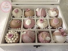 light rose and pearl wedding cupcakes