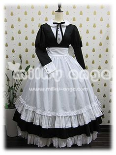 Cute Girl Outfits, Pretty Outfits, Cute Dresses, Beautiful Dresses, French Maid Dress, Mode Steampunk, Lolita Mode, Maid Outfit, Frack
