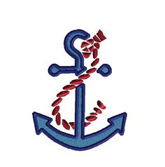 Anchor and Rope Machine Embroidery DesignINSTANT by SewChaCha