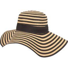 Stripe Floppy Womens Hat -- love this hat! Fancy Hats, Cute Hats, Big Hats, Heidi Klum, Floppy Hats, Love Hat, Fashion Essentials, Summer Essentials, Summer Hats