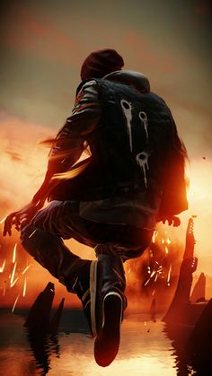 This is a wallpaper and this is amazing. Arte Emo, Delsin Rowe, Character Art, Character Design, Bd Art, Infamous Second Son, Gaming Wallpapers, Foto Art, Cool Wallpaper