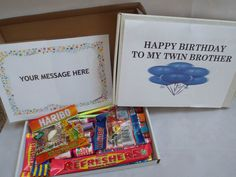 Retro Sweets Gift Box TO MY TWIN BIRTHDAY FREE personalisation (45 sweets) | eBay