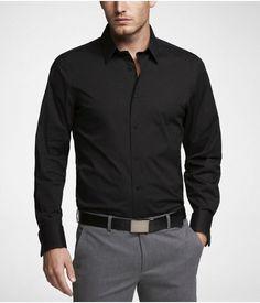 Express Mens 1Mx Modern Fit French Cuff Shirt Black, Small $59.90 : 《World Sales Shops》